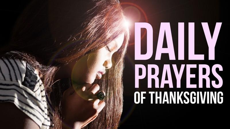 daily prayers, prayers for thanksgiving