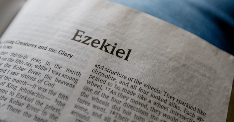 open Bible to book of Ezekiel chapter 1, what to know about Ezekiel