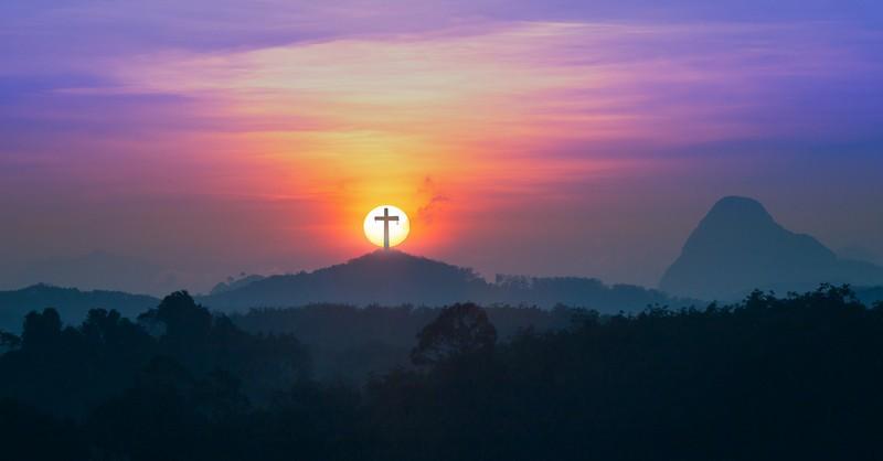 cross at sunset, Good Friday prayers
