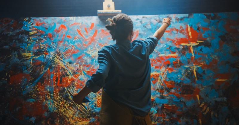artist painting, fearfully and wonderfully made