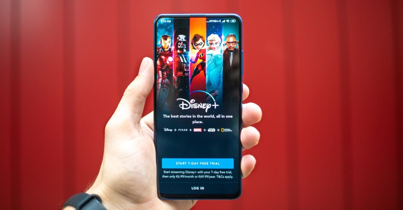 the Disney plus app opened on a phone, Disney movies that have biblical lessons