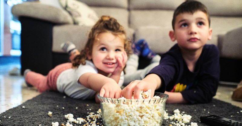Kids eating popcorn, New family-friendly movies and tv shows streaming in March