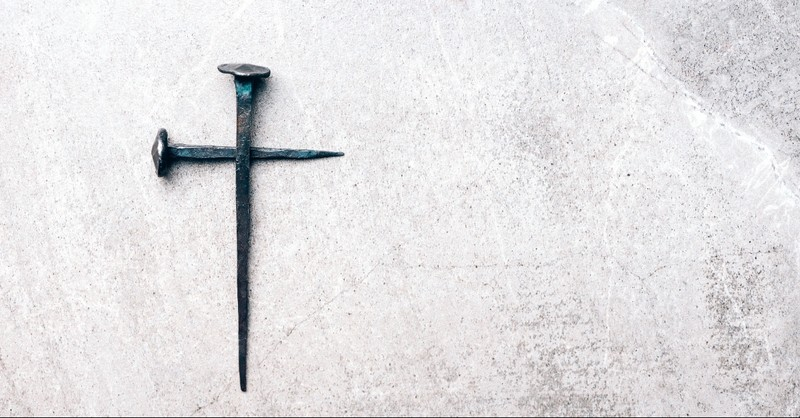 Nails of the cross in the shape of a cross