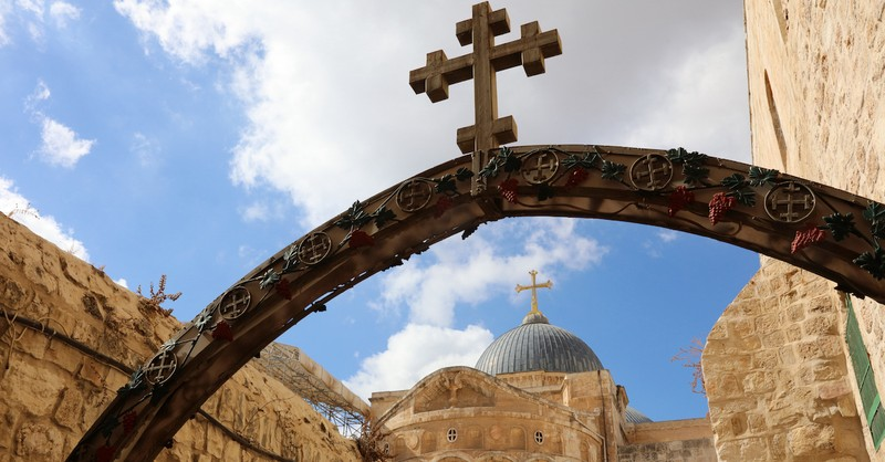 cross over church in Jerusalem, stations of the cross