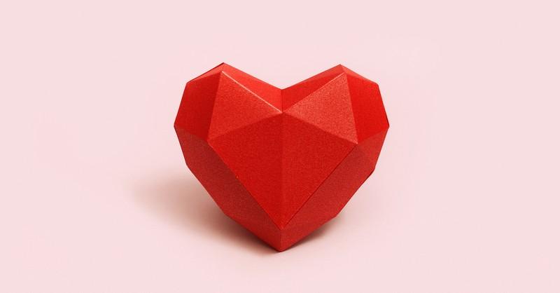 3 dimensional heart, clean heart