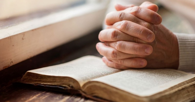 prayer hands open bible praying pray scripture folded hands