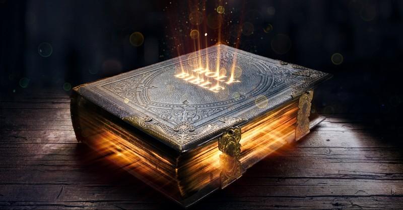 Glowing Holy Bible