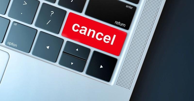 cancel culture computer button cancelled social media