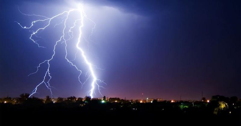 city lightning storm end times demons evil