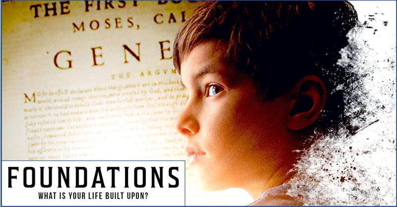 Promotional poster for the Genesis creation movie Foundations