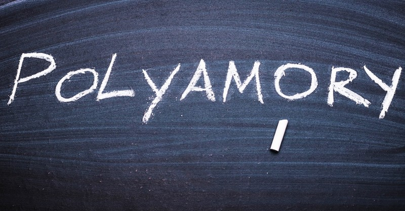 polyamory written in chalk on black board