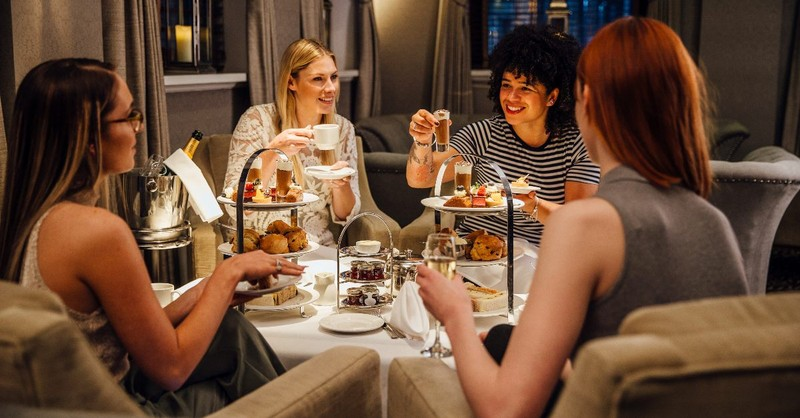 Women having tea time