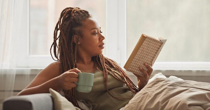 Woman reading a classic novel