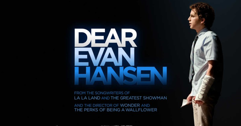 Ben Platt as Evan Hansen, Dear Evan Hansen movie poster