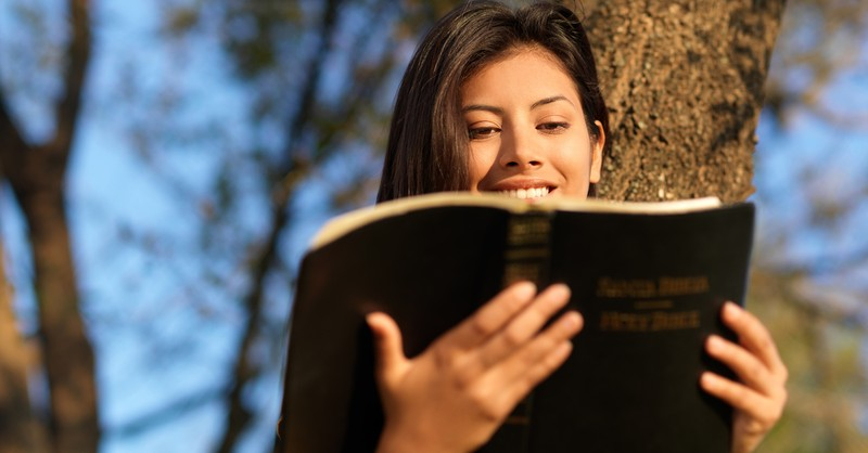 made in the image of god - woman reading bible