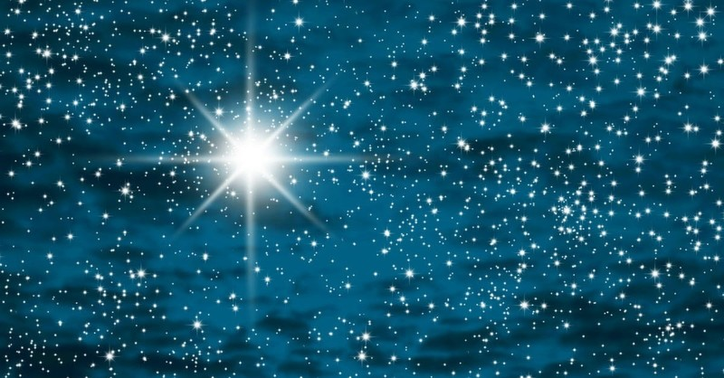 starry sky, for unto you is born this day in the city of david a savior who is christ the lord