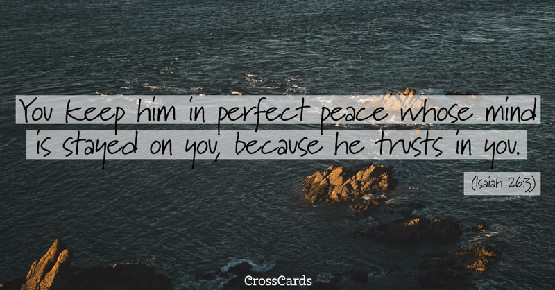 Your Daily Verse - Isaiah 26:3