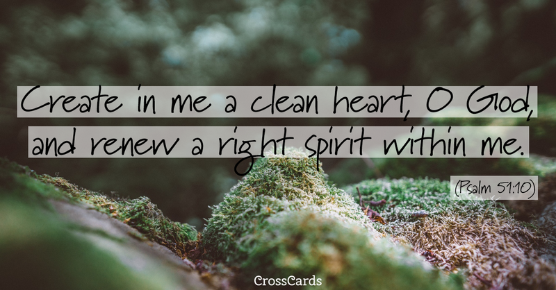 Your Daily Verse - Psalm 51:10