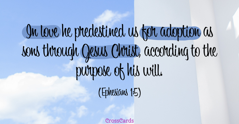 Your Daily Verse - Ephesians 1:5