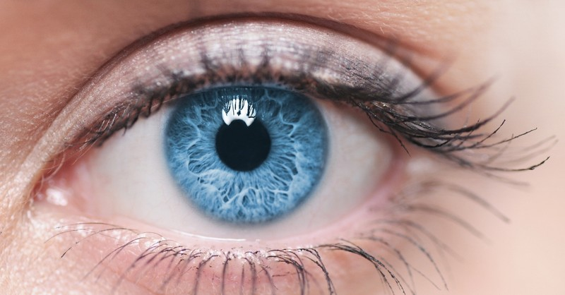 close up of blue eye, eye for an eye meaning