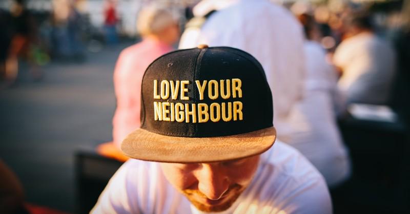 love your neighbor hat