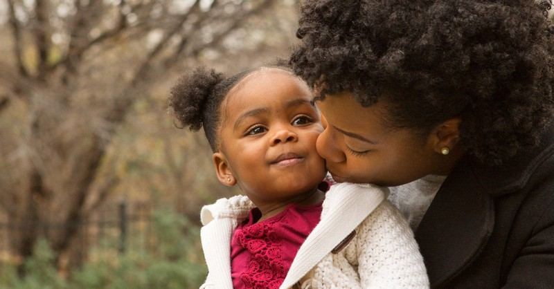 mom kissing daughter, keys to busy mom's spiritual flourishing