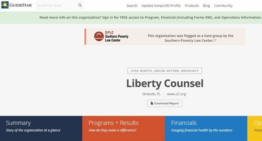 Christian Organizations Labeled as Hate Groups on Charity Research Site