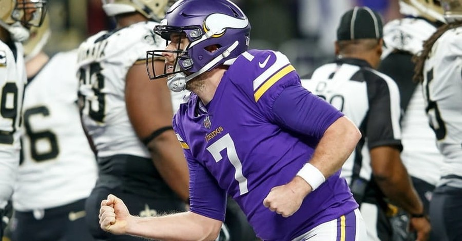 Minnesota Vikings Quarterback Calls Giving Life to Christ the 'Best Moment of My Life'