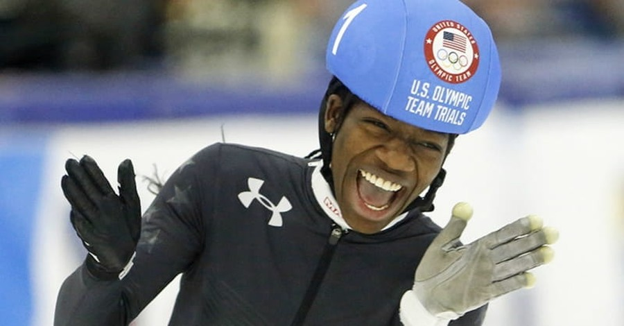 First Black Female Speedskater Maame Biney Smiles because 'God Has Blessed Me'