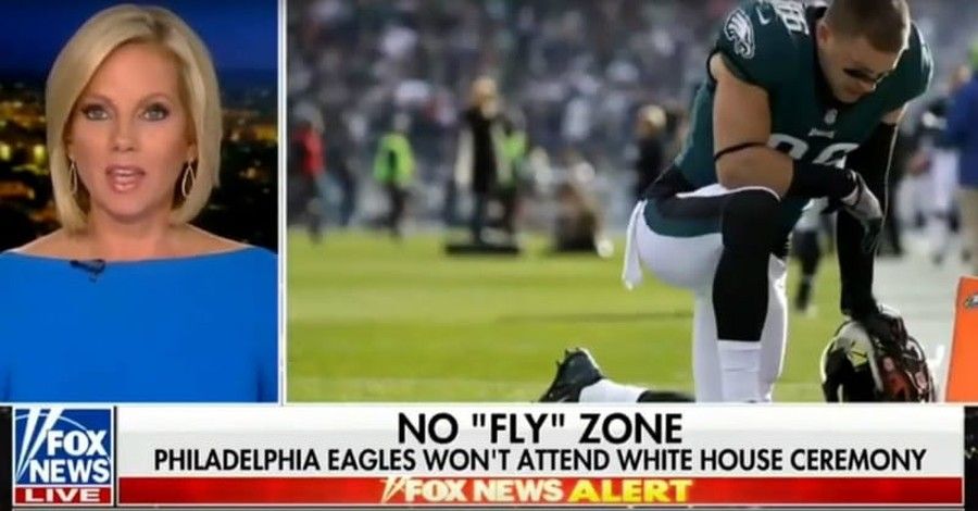Fox Showed Eagles Players Kneeling In Prayer while Discussing National Anthem Protests