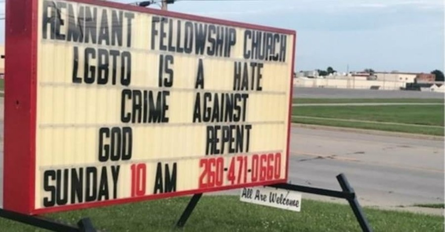 Church Booted from Building over Sign Criticizing Homosexuality