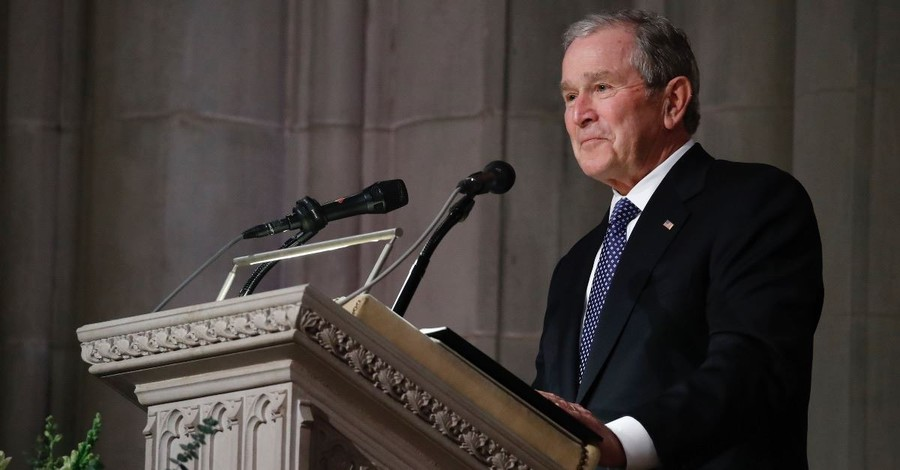 President George W. Bush Gives Emotional Eulogy in Honor of His Late Father President George H.W. Bush