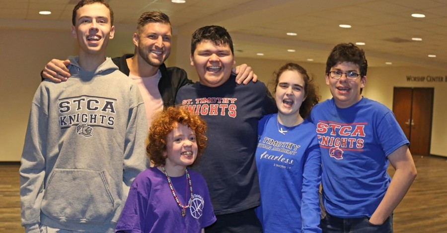 Tim Tebow Surprises Students with Special Needs at Prestonwood Baptist Church