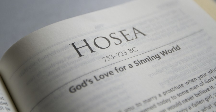 Bible open to the Book of Hosea