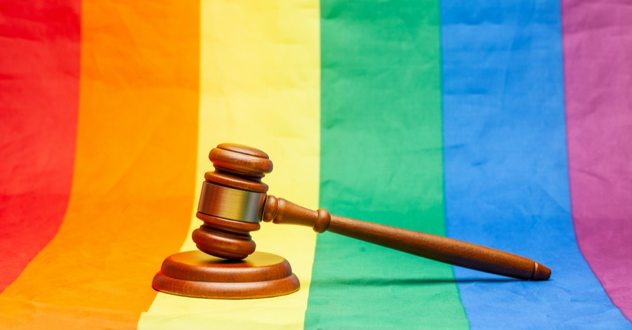 LGBT flag and court gavel, Christian leaders question how LGBT court ruling will impact religious liberty