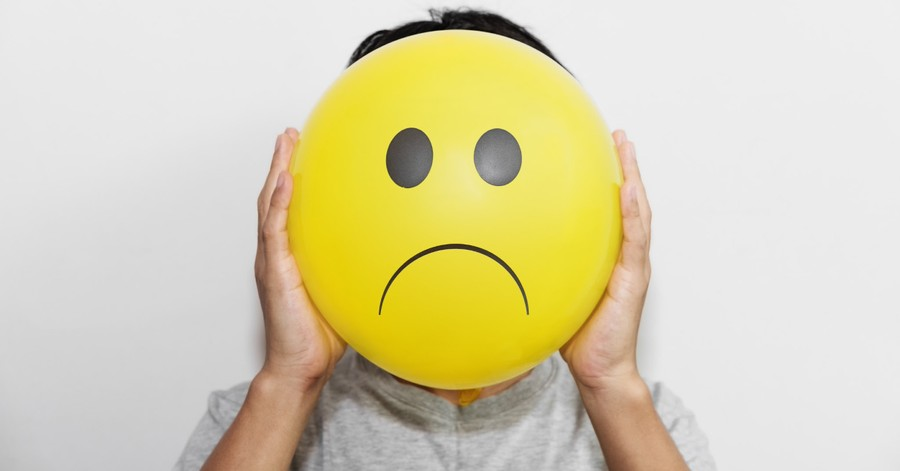 Sad Balloon, Only 14 percent of American adults say they are very happy