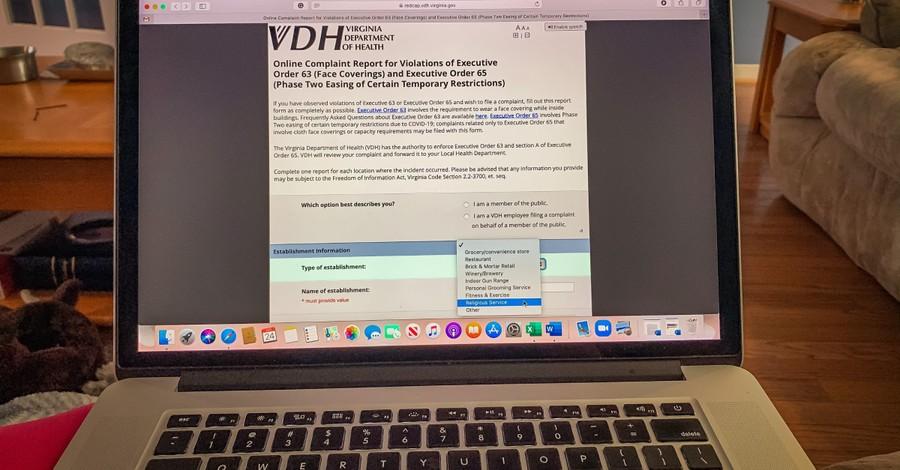 VDH COVID complaint form, VDH sets up COVID-19 complaint form