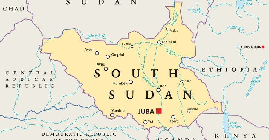 Map of South Sudan, Radicals protest South Sudans abolition of apostasy and other blasphemy laws