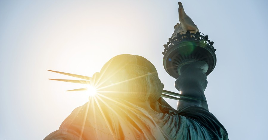 The Statue of Liberty, The path to liberty that stands the storms of life