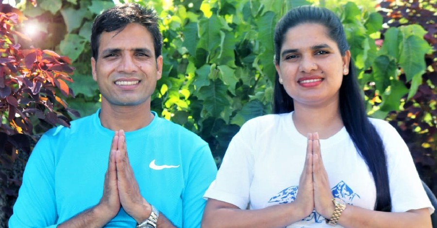 Pastor Keshab Raj Acharya and his wife, Pastor Acharya is released from jail