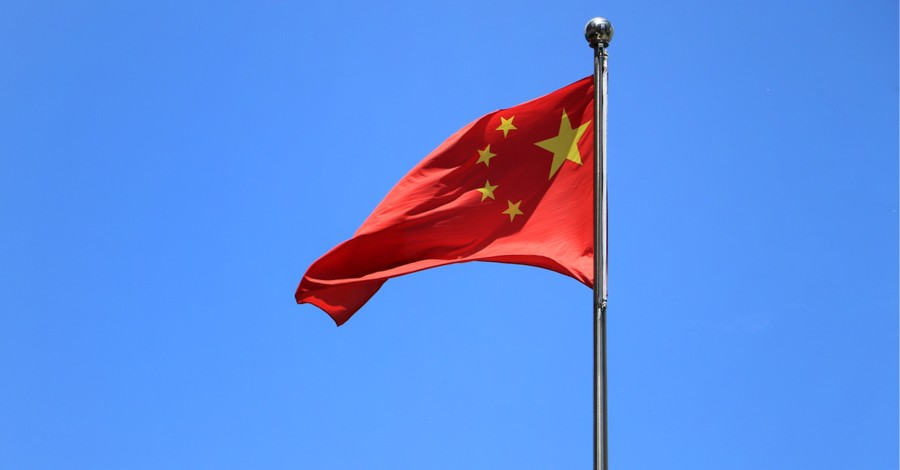 Chinese flag, Church in China are being used to push the Communist agenda and to slander the U.S.