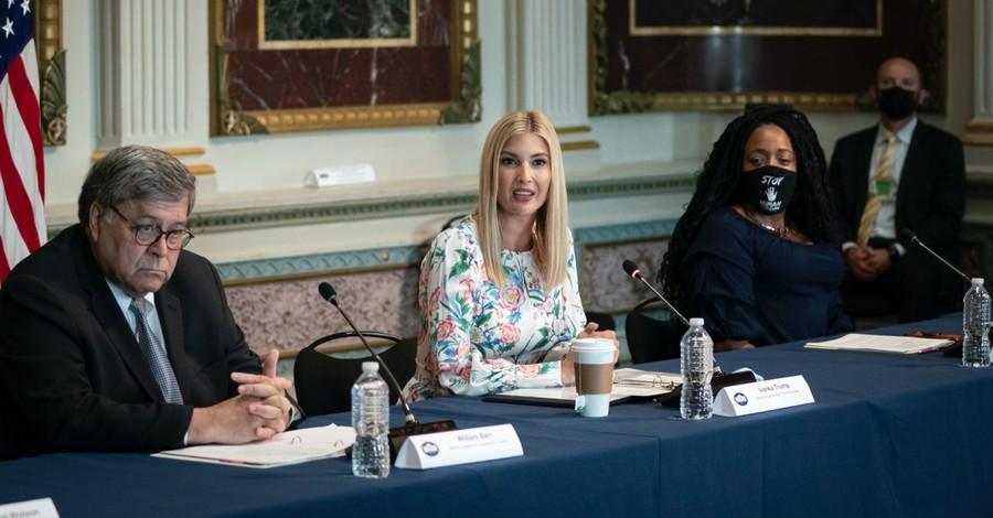 Ivanka Trump and Bill Barr, the Trump Admin dedicated $35 million to organizations fighting against human trafficking