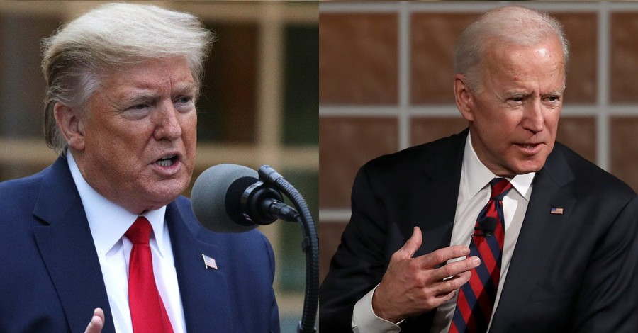 Donald Trump and Joe Biden, Trump says Biden does actually believe in the Bible