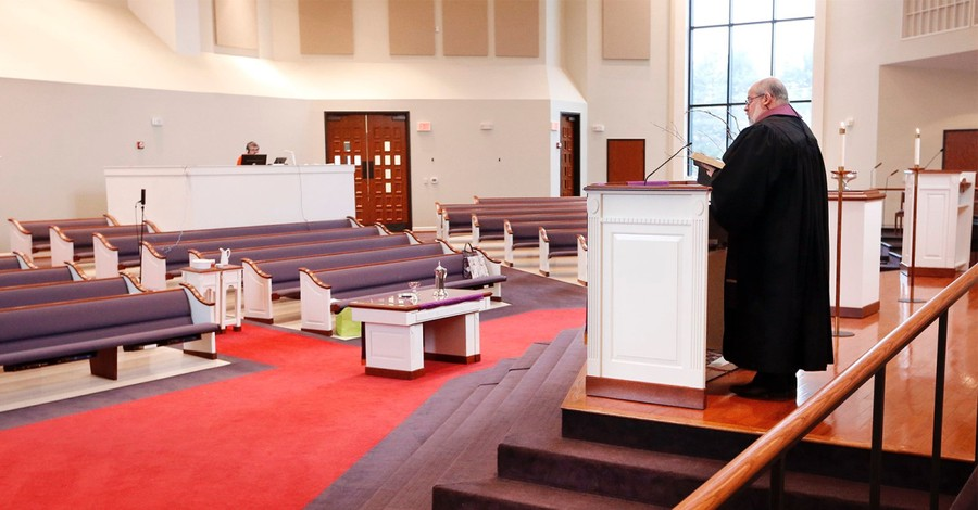 An empty church, conflict is rising within churches over if and how they should re-open