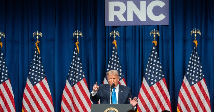 Donald Trump speaking at the RNC, Faith leaders speaking at the RNC