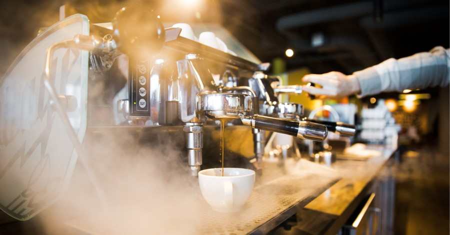 A espresso machine in a coffee shop, ministry turns a former strip club into a Christian ministry