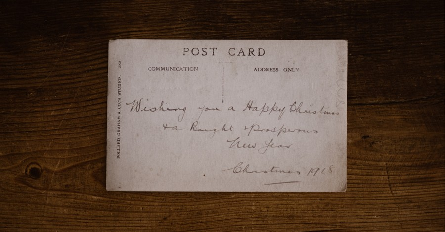 an old post card, Remarkable change and the power of the unchanging God
