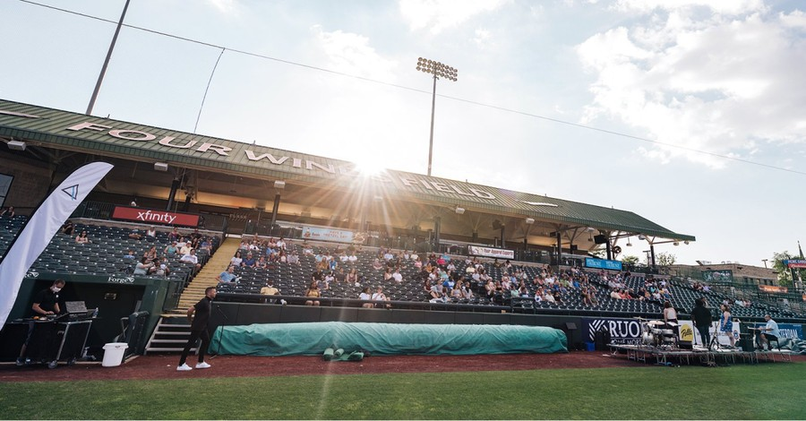 South Bend City Church meeting at a baseball stadium, Churches meet in stadiums and ballparks amid sporting event cancellations