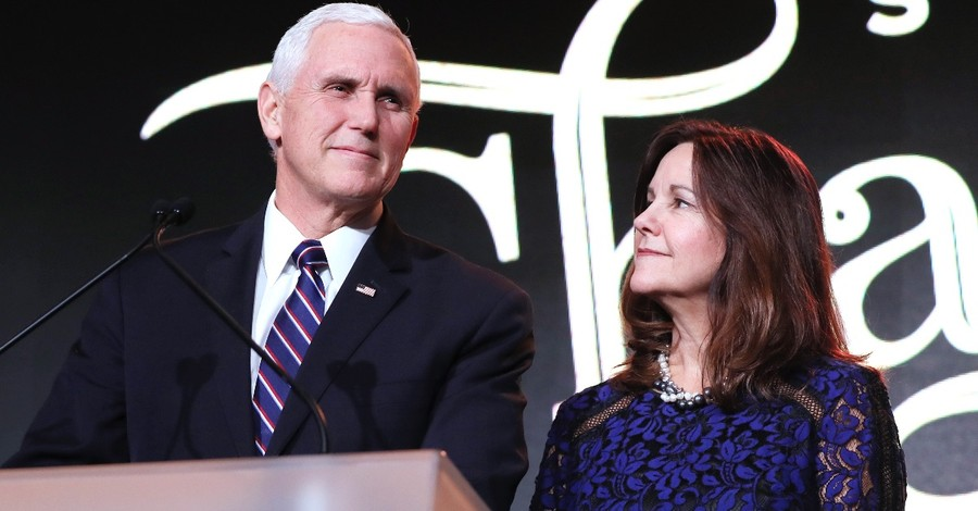 Mike and Karen Pence, Pence has Jeremiah 29:11 above his mantle