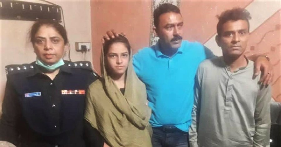 A kidnapped Pakistani girl and her family, Christian girl kidnapped in Pakistan is recovered